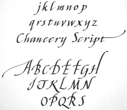 Chancery Italic Script